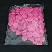 Pebbles Stones for Walkways Garden Outdoor Decorative Luminous Pebbles purple