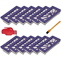 12pcs Replacement Neato XV-21 XV Signature Pro Filters Compatible With Neato XV-21,XV-11,XV-12, For Pet & Allergy Vacuum Cleaner Parts Brush Cleaning Tool Comb And Cleaning Brush