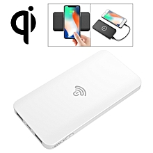 HAMTOD HS1 Portable Intelligent Qi Standard Wireless Charger / Power Bank, Support  For iPhone, Galaxy, Huawei, Xiaomi, LG, HTC and Other QI Standard Smart Phones (White)