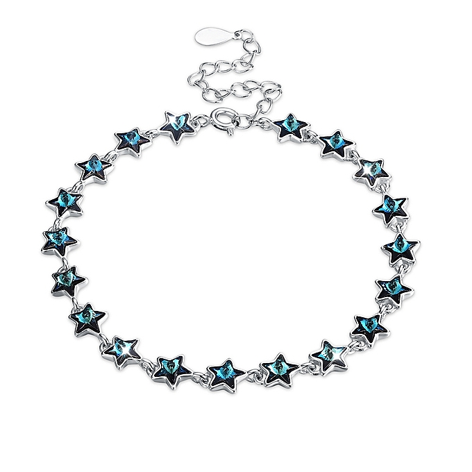Full Star Pure Silver Bracelet