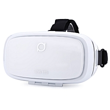 Kankan V2Y 68 Degree Wide Angel 3D VR Headset Movie Game Virtual Reality for 5 - 6 Inch Smartphone-WHITE