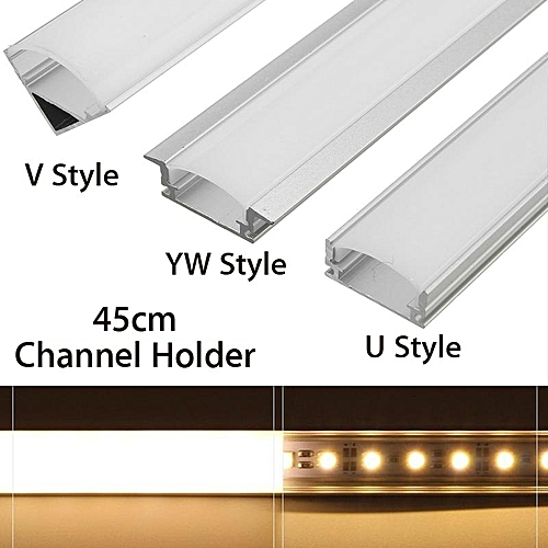 45cm U/V/YW Style Aluminium Channel Holder Cover For LED Strip Light Bar  Lamp