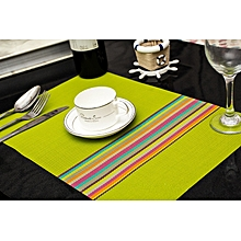 Table Mats - 6 Pieces - Luminous Green