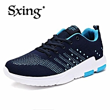 New Pattern Korean Sports Shoes Casual Men's Running Shoes Travel Shoes Ventilation Blue