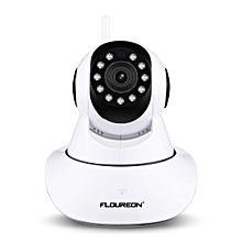 FLOUREON 720P Wifi 1.0 Megapixel Wireless CCTV Security IP Camera AU - Black + White
