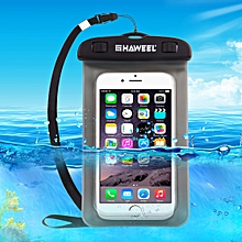 Transparent Universal Waterproof Bag With Lanyard For IPhone, Galaxy, Huawei, Xiaomi, LG, HTC And Other Smart Phones(Black)