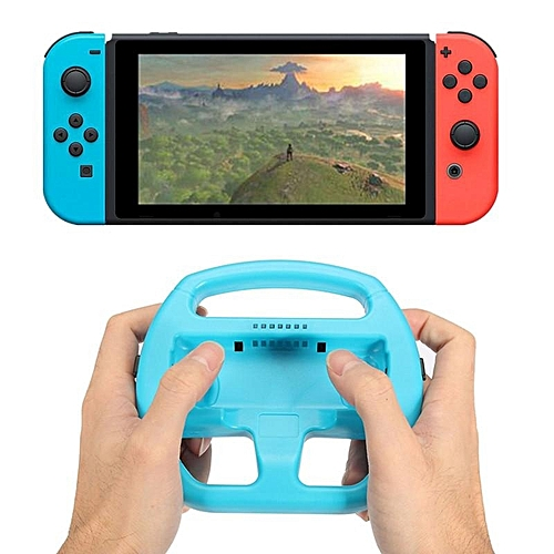 Blue Gaming Handle Grip Racing Steering Wheels For Nintendo Switch  Controller