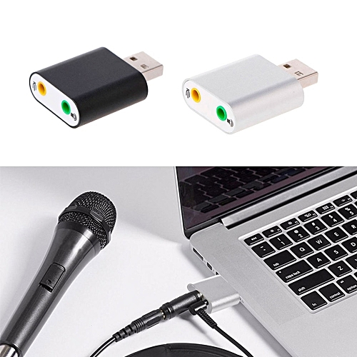 1Pc New Aluminum USB 2 0 External 3D Stereo 7 1 Channel 3 5mm Aux Out usb  Audio Sound Card Adapter for Win 7/8 Vista Mac OS