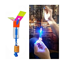 Amazing Flash LED Light Arrow Rocket Helicopter Rotating Flying Toy Party Fun Kids Outdoor Toys-red