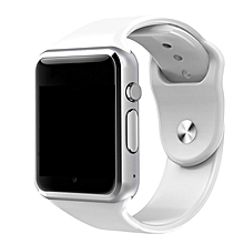 TA A1 Smart Watch Digital Analog Sports Watch Smart Wristwatch For Android Phone -silver & White
