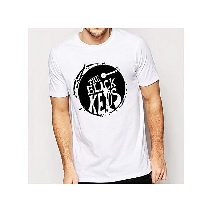 3bc8cd57f Fashion Funny T Shirts The Black Keys T Shirts Men Drum Casual Men T ...