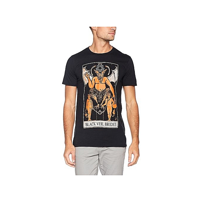 037d0c17a51c Summer Fashion T-shirt Black Veil Brides Tarot T Shirt Cotton Short Sleeve  Men s Funny