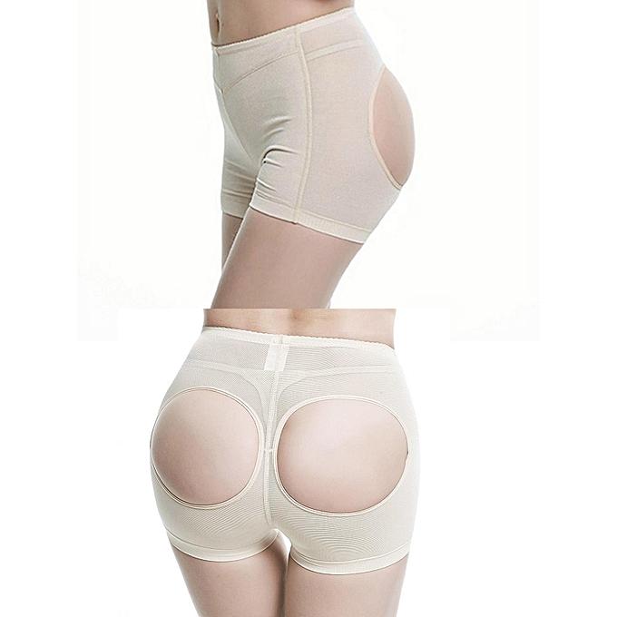 d669f2b3e ... Women Butt Lifter Shaper Bum Lift Pants Buttocks Enhancer Boyshorts  Booty Briefs-Apricot