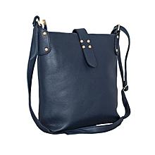 Navy Blue Bucket Style Handbag