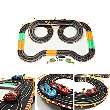 HZ Hand-Dynamo Roadster Track Toy Double Competitive Toys with Lamp-