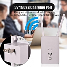 Wifi Range Extender 300Mbps Smart Wireless Signal Booster Dual Antenna Repeater/AP Mode USB WPS
