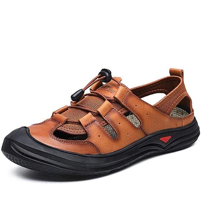 27a6e7526 SocNoDn Men Fashion Summer Casual Hiking Beach Sandals Shoes Brown ...