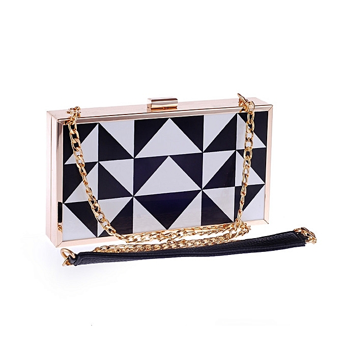 Hot sale Spring and summer female fashion acrylic bag shoulder Messenger bag  simple evening party clutch f76ca840ab1fb
