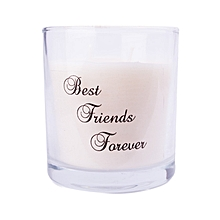 White scented candle: Best Friends Forever