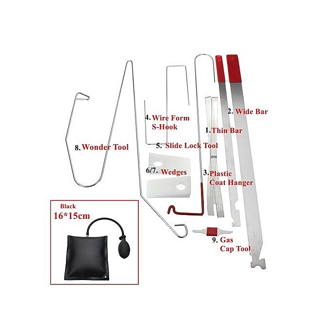 Universal Car Lock Out Emergency Tool Kit Unlock Car Door Open Tool Bump  Key Kit