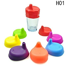 Hequeen  Packs Silicone Sippy Cup Lids With Spill-proof Design For Babies And Toddler Prefer For Cup