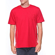 Terry Gold piping tee s/s Red