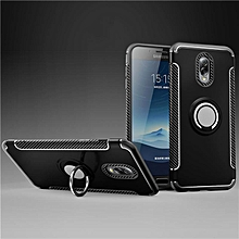 KZ Slim Fit Hybrid Dual Layer Armor Shock Absorption Rugged Defender with Ring Holder Kickstand Drop Protection Soft Rubber Bumper Case Cover for Samsung Galaxy J7 Plus  XYX-S