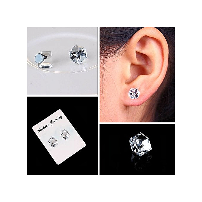 a6b281f9e49 Ranicken Shop Weight Loss Earrings Crystal Slimming Healthy Acupoints Stud  Magnetic Therapy