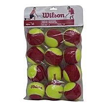 Tennis Ball Starter Easy/Red Pkt12: Wrt137100: Wilson