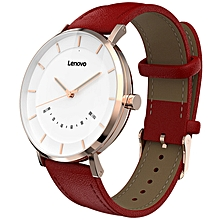Lenovo Watch S Smartwatch Business Leisure 5ATM Waterproof Quartz Watch - LAVA RED