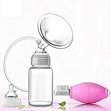Pretty Manual Breast Pump with a Free Bottle-BLUE