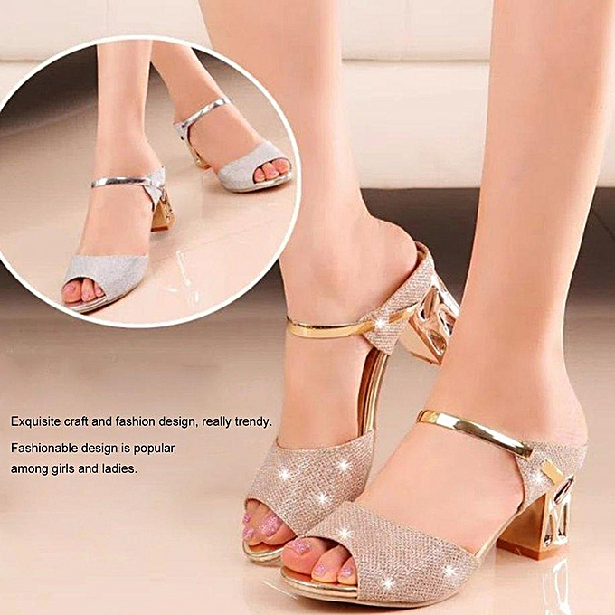 aa1754bba283 ... TB Women Casual Sandals Soft PU Platform Wedges Thick Mid-heeled Shoes  Peep-toe ...