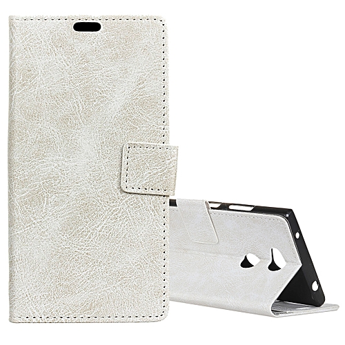 wholesale dealer ae9fd 33693 For Sony Xperia XA2 Ultra Retro Crazy Horse Texture Horizontal Flip Leather  Case with Holder & Card Slots & Wallet & Photo Frame(White)