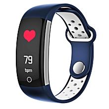 Q6 Smart Bracelet HR Blood Pressure Blood Oxygen Monitor 0.96 Color Screen Pedometer Smart Watch