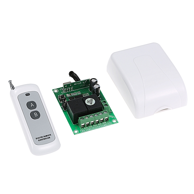 Smart Home 433Mhz RF DC 12V 2CH Learning Code Wireless Remote Control  Switch Relay Receiver Transmitter Universal Remote Switch System and Long  Range