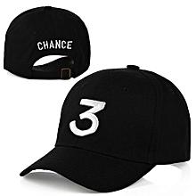 Chance 3 Embroidery Rapper Inspired Baseball Hat For Men/Women -Black