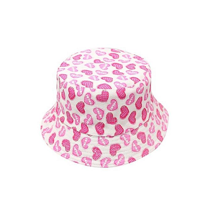 1d643419a0a Braveayong Toddler Baby Kids Boys Girls Floral Pattern Bucket Hats Sun  Helmet Cap -Pink