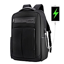 "ARCTIC HUNTER Laptop Backpack,Anti Theft Bag With USB Charging Port For Men & Women, Smart Bag, Water Resistant Backpack School Bag, Large Capacity Business Backpack  Fits UNDER 18"" Laptop & Notebook - Black"