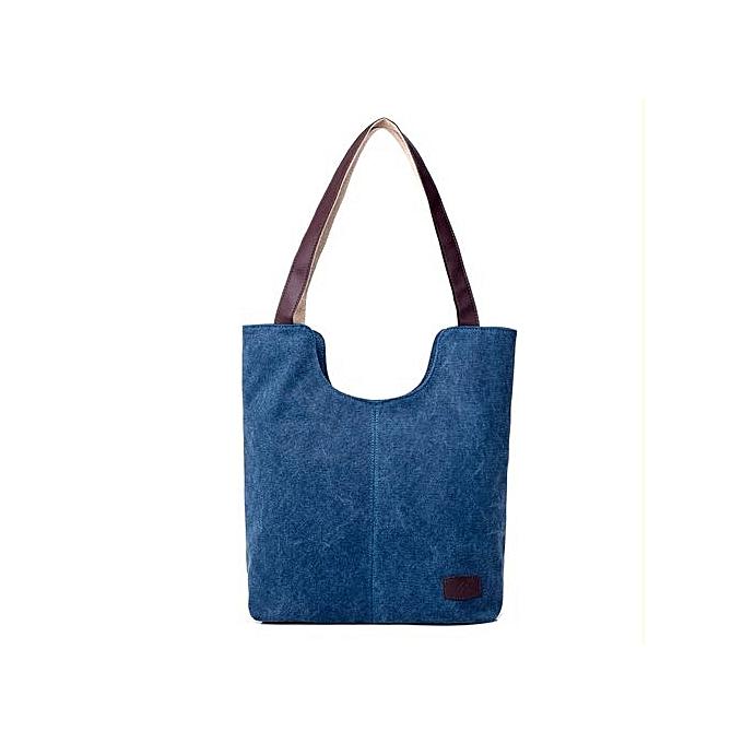 bluerdream-Women s Handbags Shoulder Handbag Canvas Shoulder Bag Big Bag  Blue-Dark Blue 06638bcd942a0