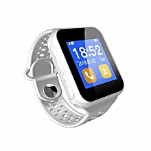 1.44 Inch TFT Pedometer Sleep Monitoring Bluetooth V3.0 Smart Watch SIM Slot For Iphone Android Phone White