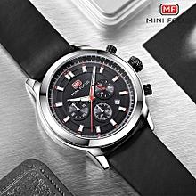 MINI FOCUS MENS Wristwatches Genuine Leather Blue Gold Black Quartz Man Watches 30m Waterproof Calendar Business Male Clcoks 0112