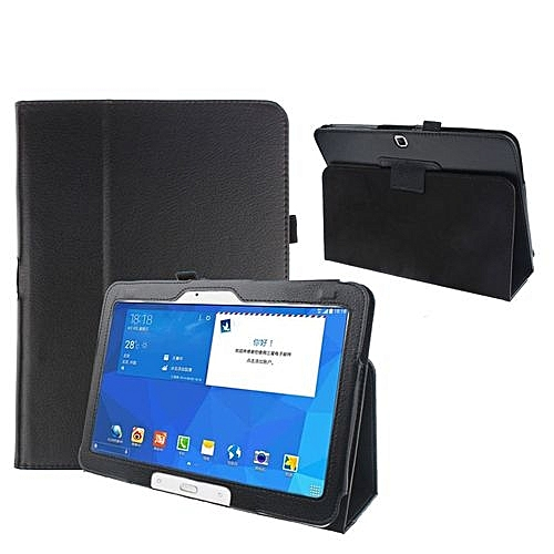 Folio Leather Case Cover For Samsung Galaxy Tab 4 10.1' SM-T530 Tablet BK