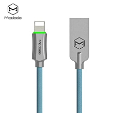CA - 390 Knight Series 8 Pin 2.4A  Auto Disconnection Data Sync Cable With Flashlight 1.8M - Blue