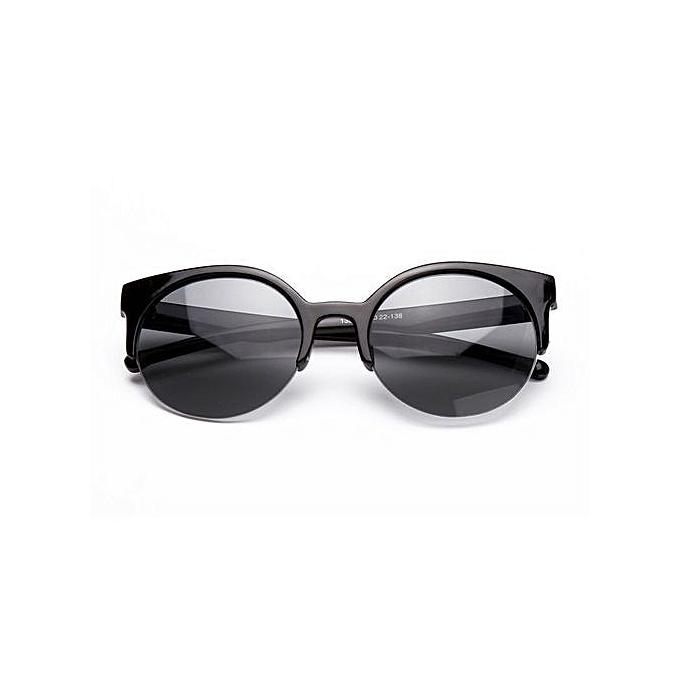 c34f11234 Fashion Stylish Cat Eye Sunglasses Women Eyewear Semi-Rimless Sunglasses  Black ...