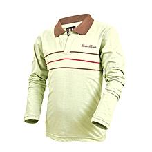 Green Long Sleeved Checked Boys Shirt