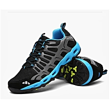 Men's travel sports sneakers mesh breathable cushioning outdoor  camping walking shoes
