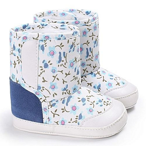 c1a1ed9612253 Eissely bluerdream-Baby Soft Sole Snow Boots Soft Crib Shoes Toddler Boots  - Light Blue