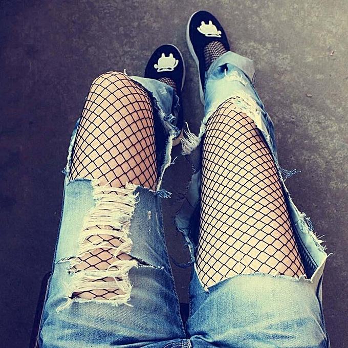 e4d87f35acd268 Eleganya Women Ladies Black Sexy Fishnet Net Pattern Stockings Hoise  Pantyhose Tights