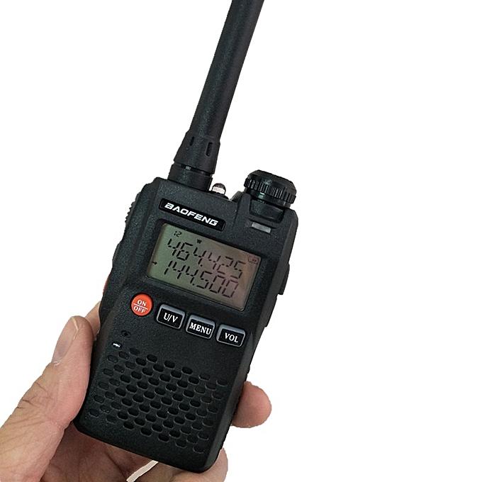 2019UV-3R Mini Walkie Talkie Radio Comunicador UHF VHF Handheld CB Radio  Station HF Transceiver USB Charger 3R UV3R ObeyQ