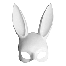 Cosplay Costume Party PP Rabbit Ears Mask Black White Halloween Decoration